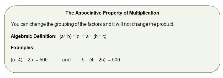 Associative property of multiplication worksheets