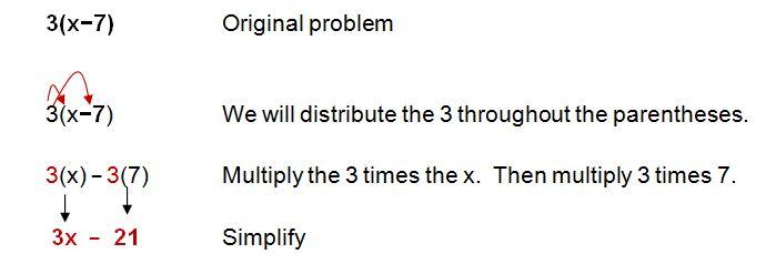using the distributive property in algebra