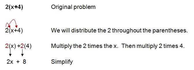 distributive property example
