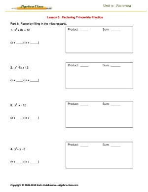 grouping worksheet moreover practice 8 5 factoring x2 bx c worksheet ...