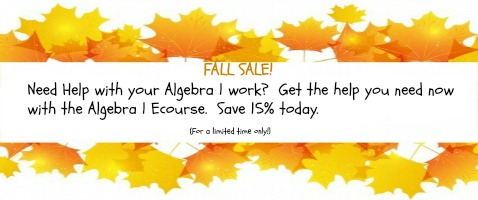 algebra ecourse on sale