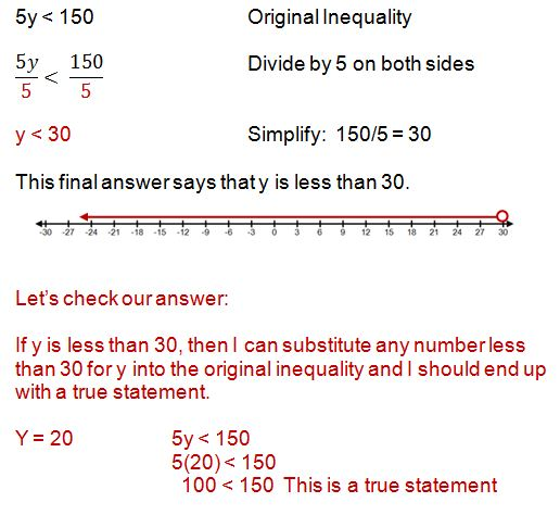 how to write an inequality