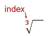 radical sign and index