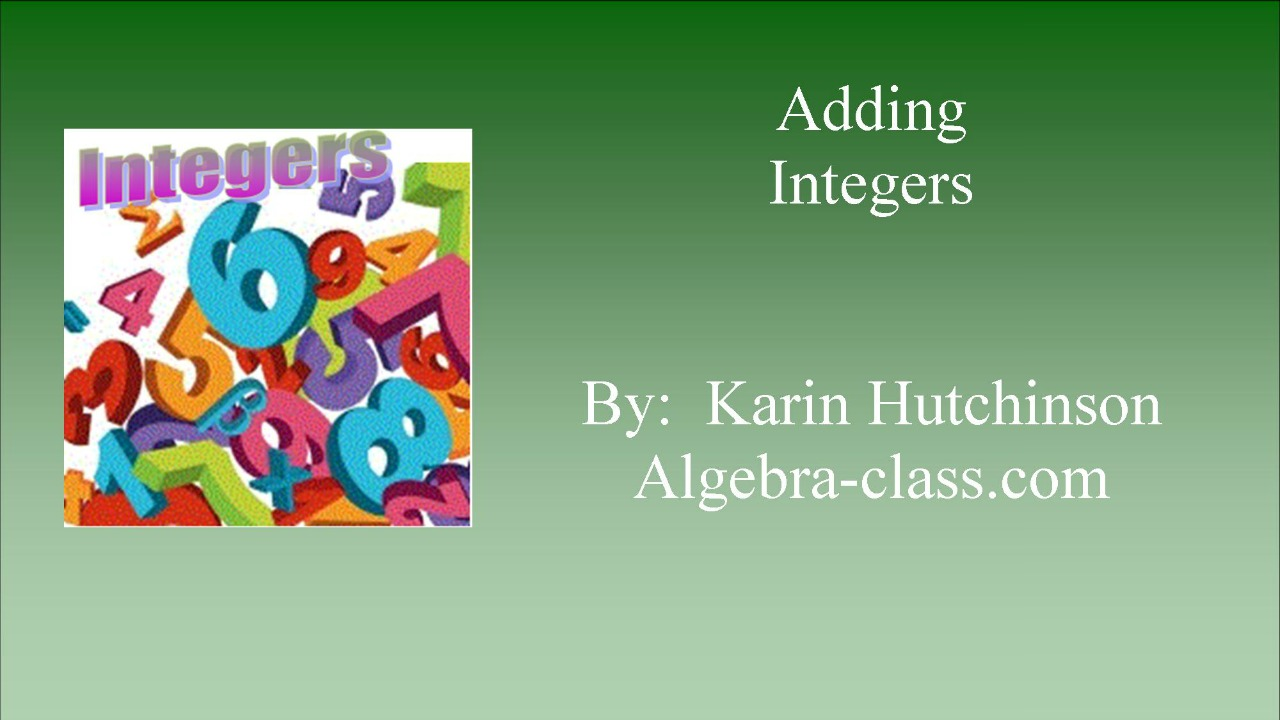 worksheet Adding Integers integers adding integers