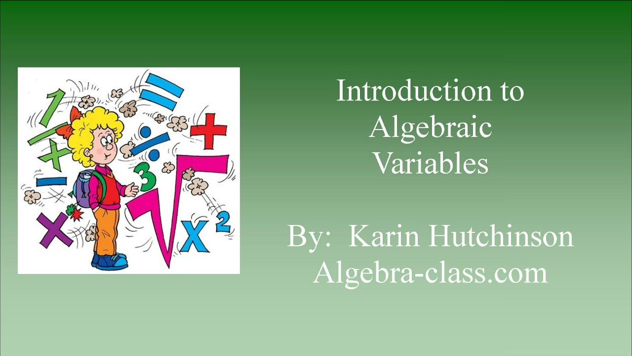 Algebraic Variables