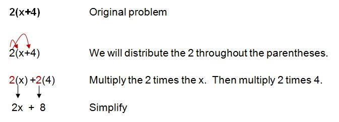 distributive property example