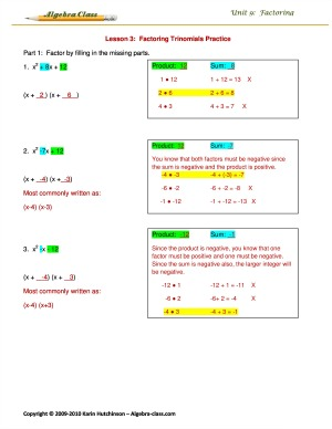 step by step answer keys