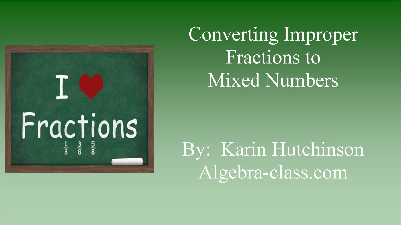 mixed number to improper fractions pdf