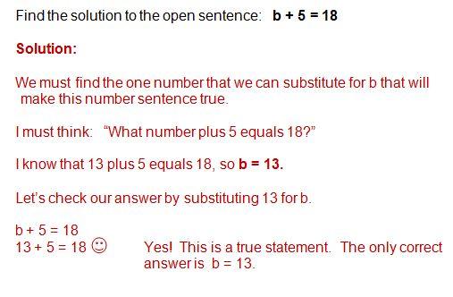 open sentence example