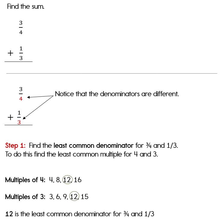 Adding Fractions - common denominators - YouTube