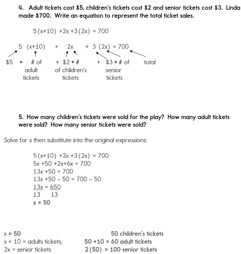 Part 2 of Algebra Word Problem Solution