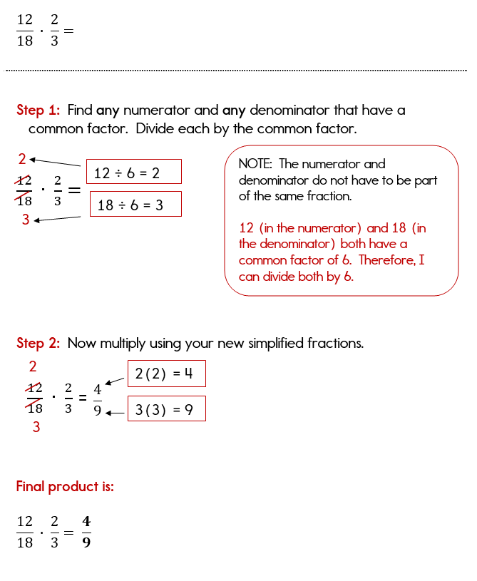 Multiplying fractions and simplifying within the problem