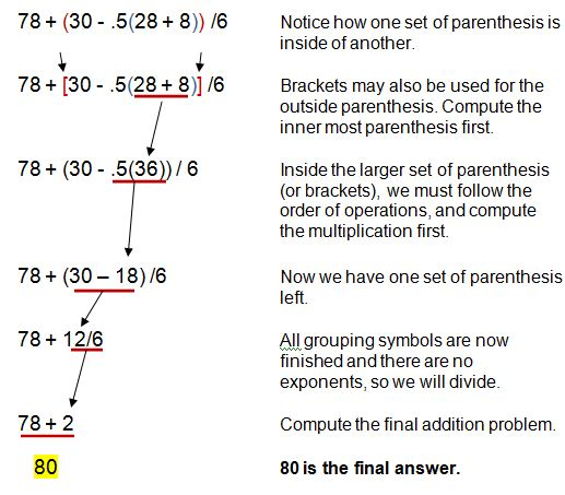 Using Pemdas To Evaluate Numerical Expressions