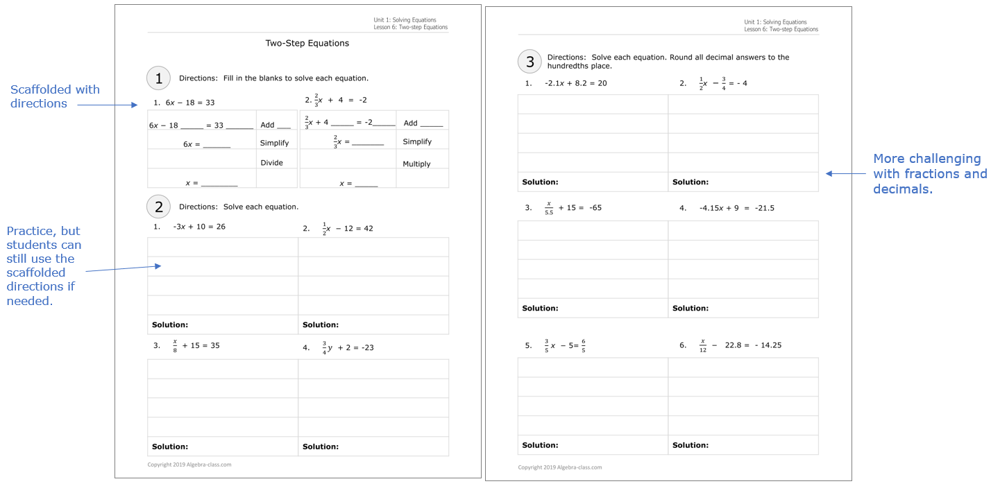 - Algebra Worksheets With Answers